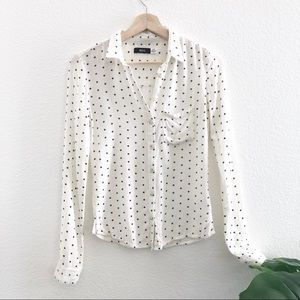 Urban Outfitters BDG Soft Polka Dot Top